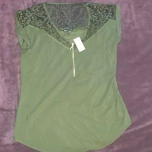 Express women's silk and lace shirt